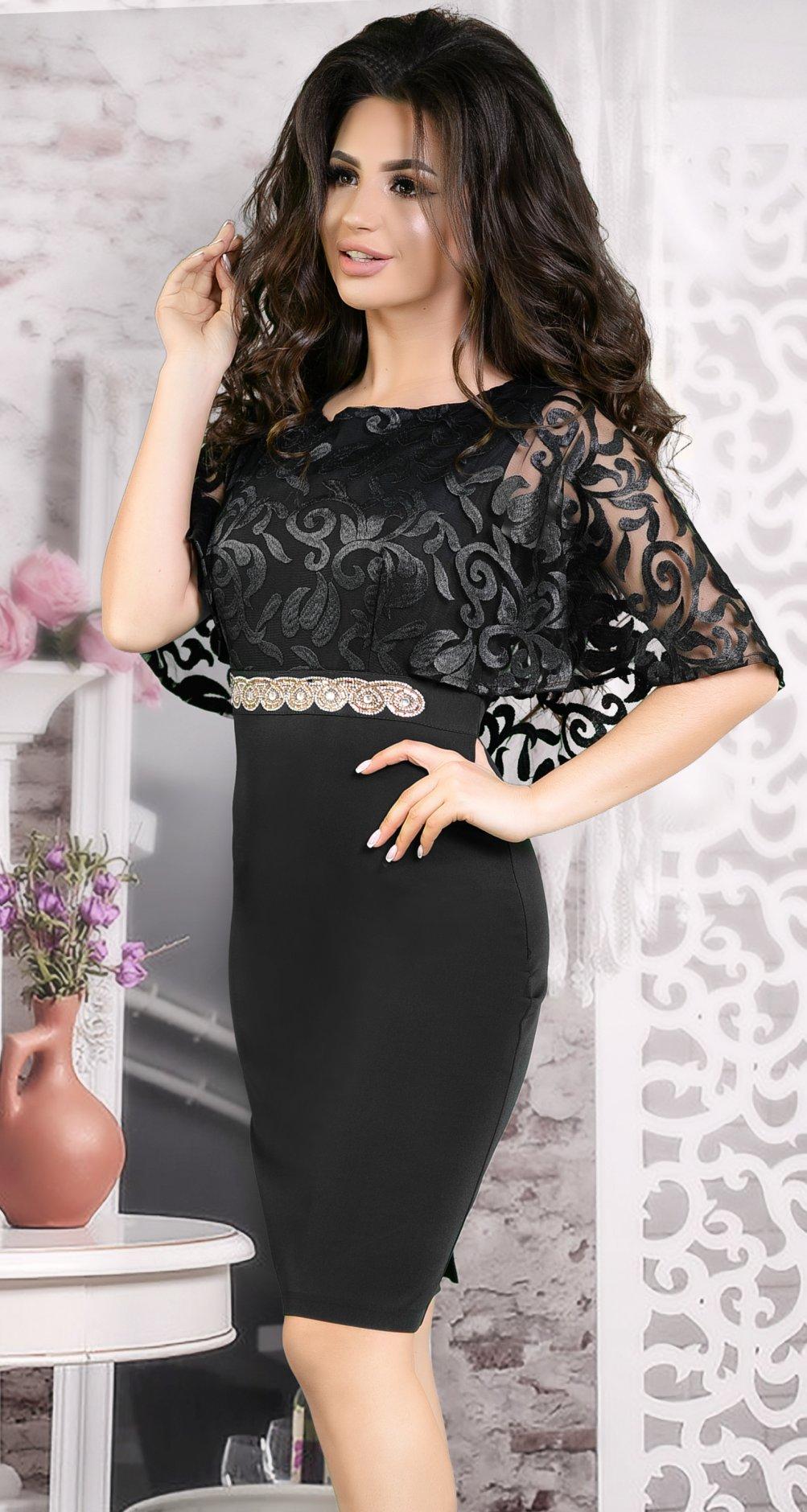 dcc42cda000 Вечернее платье с шёлковой вышивкой черное - Платье норма 42-48 ...