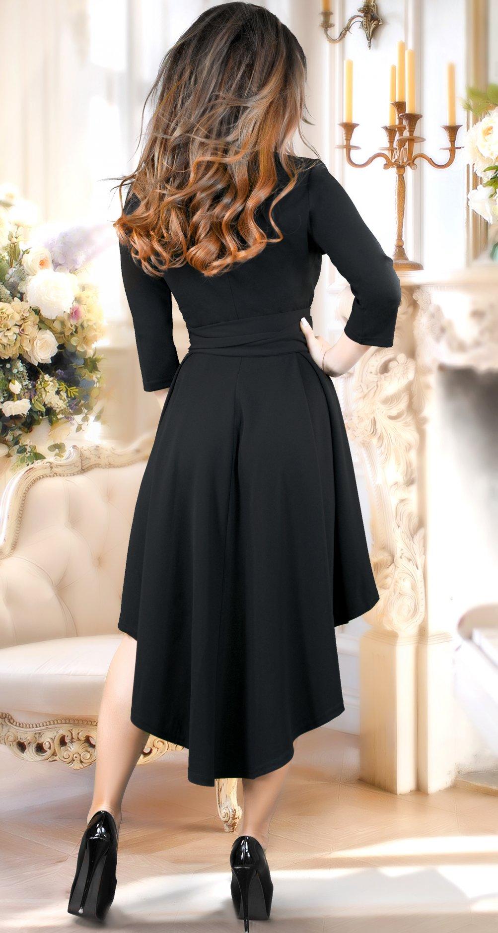 003db58eb0f Асимметричное черное нарядное платье Асимметричное черное нарядное платье  ...