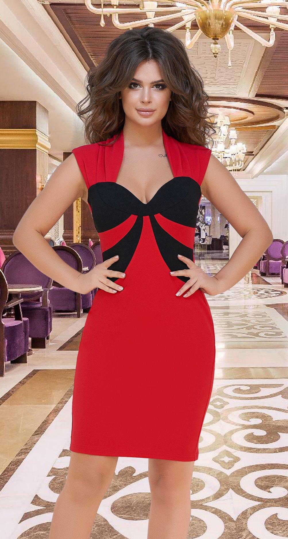 dd2ea24e2c47428 Красивое красное платье № 3919 - Платье норма 42-48 - Модные ...