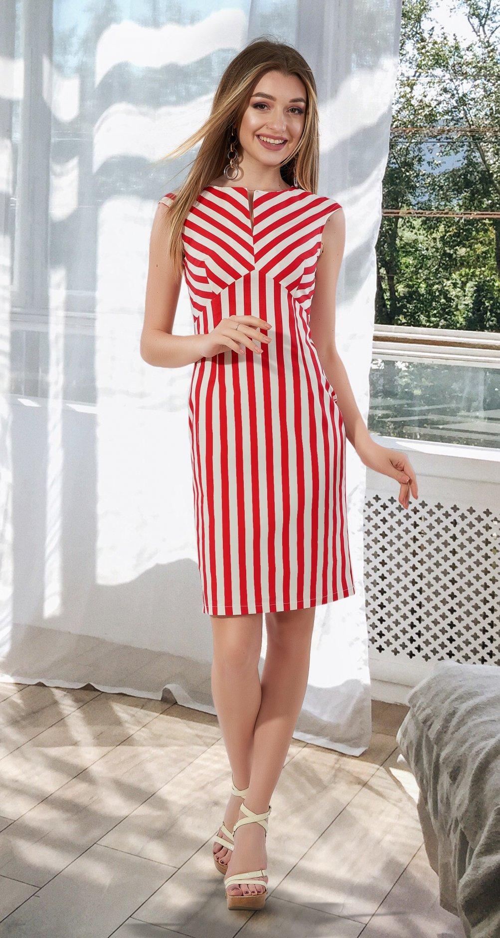 e03b8675fd4 Коттоновое платье в полоску № 3954 - Платье норма 42-48 - Модные ...