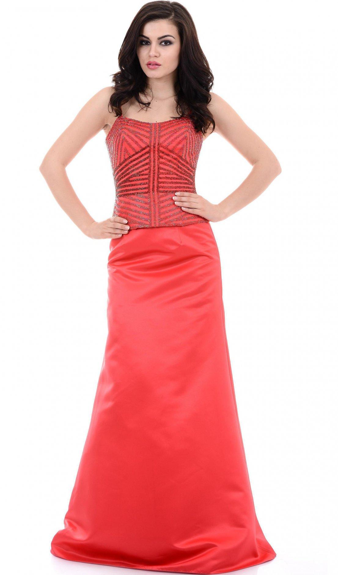 fcae00f27f8 Красивое вечернее платье красного цвета без рукавов Красивое вечернее  платье красного цвета без рукавов ...